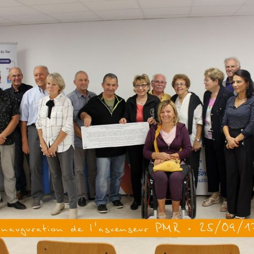 "Album : inauguration de l'ascenseur ""PMR"""